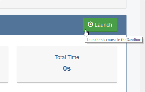 Clicking Launch starts a new attempt