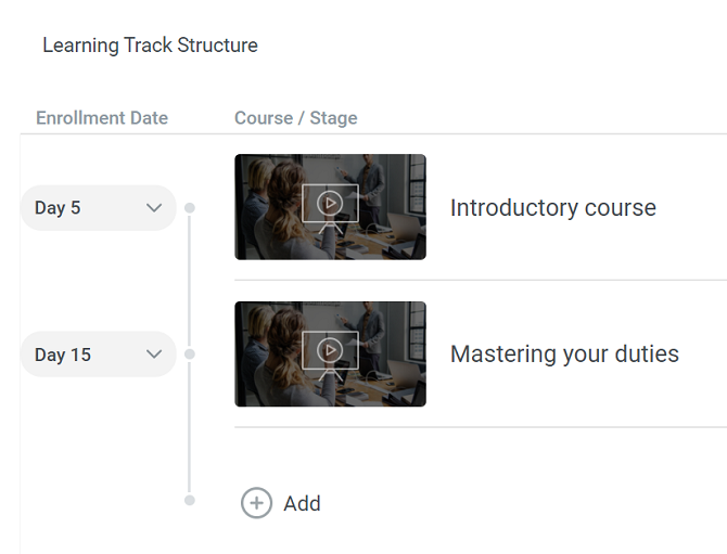 Learning track structure in iSpring Learn LMS