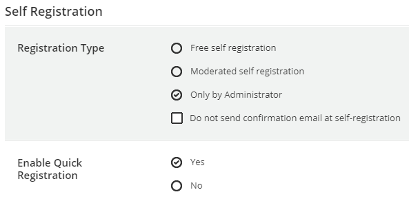 Self-registration in Docebo LMS