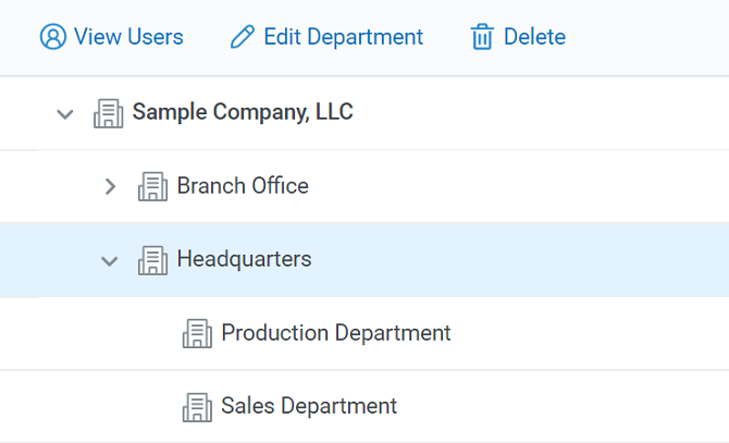 Building an organization's structure in iSpring Learn LMS