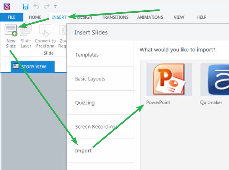 Importing PPT in Articulate Storyline