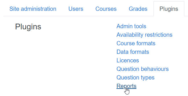 Report plugins in ScholarLMS