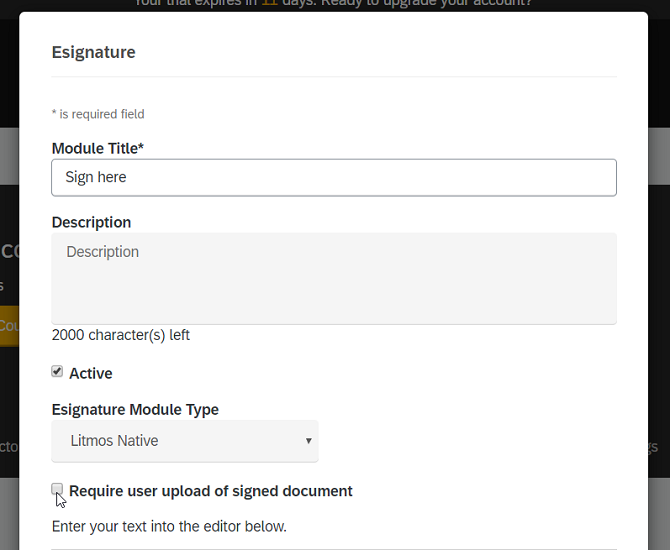 e-signature in Litmos LMS