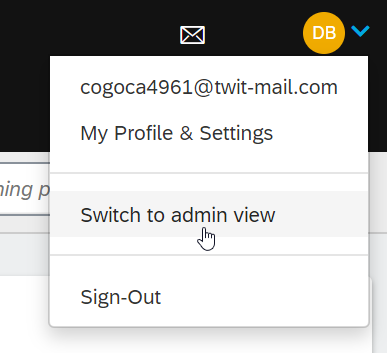 Switching to Admin panel in Litmos LMS