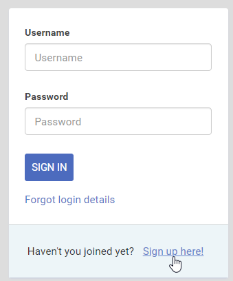 Self Sign-Up in eFront LMS
