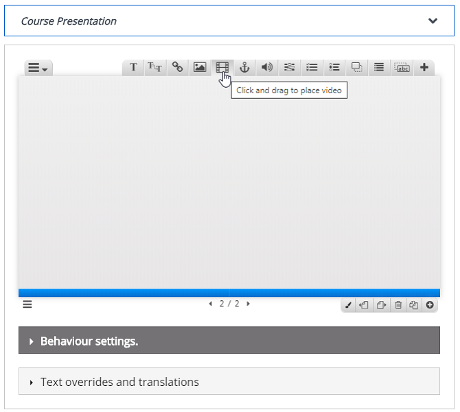 Presentation composer in Paradiso LMS