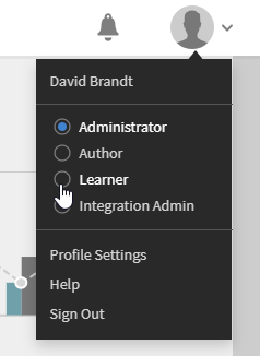 Profile in Captivate Prime LMS