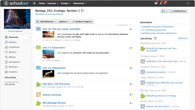 Schoology Learning